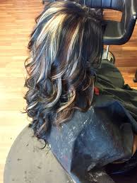 how to add colour chunks to hairstyles image result for hair contrast hair color chunks hair highlights
