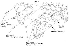 2003 honda civic exhaust manifold repair guides engine mechanical components exhaust manifold
