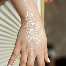 white body paint flash tattoo inspired sticker henna lace ink