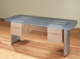 wood desk with glass top top of desk glass top desk modern glass top desk designs intended