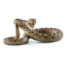small fake realistic rubber rattlesnake snake toy props scary