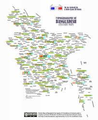 Map Of Bangladesh Typogeography Of Bangladesh 3d Text Art Map Maps U0026maps