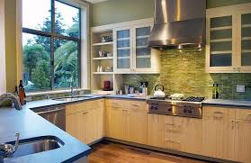 Contemporary Kitchen Backsplashes Kitchen Design Green Onyx Tile Backsplash For The Modern Kitchen