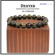 gemstone beaded bracelet images Boybeads quot dexter quot mens handmade natural bronzite gemstone bracelet 15057