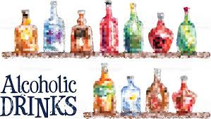 collection of bottles vector logo design template drink or alcohol