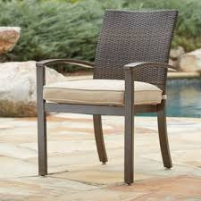 Stackable Aluminum Patio Chairs by Patio Dining Chairs You U0027ll Love Wayfair
