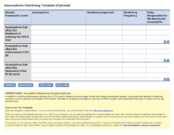 project analysis report template project analysis report template unique assumptions monitoring