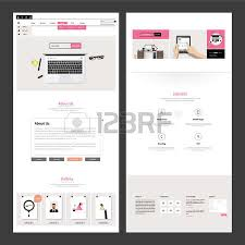 one page business website design template vector design royalty