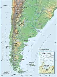 physical map of argentina argentina maps el sur sur