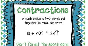 smiling and shining in second grade contractions worksheet