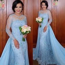 new 2017 sky blue prom dress sheer lace prom dress long