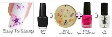 blue color nail polish easy nail art stamp