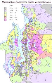 seattle map by county the geography of class in greater seattle newgeography