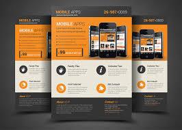 mobile app flyer template flyer templates creative market