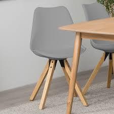Esszimmerstuhl Grau Holz Stuhl Dima 2er Set Esszimmerstuhl Barhocker Bezug Schwarz Weiß