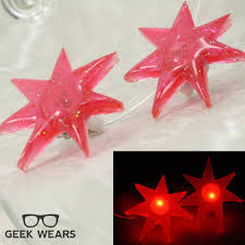 jemstar earrings jem the hologram light up earrings jem 80s party