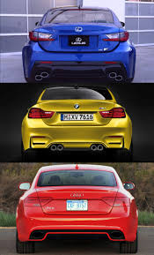 lexus rc vs gs 2015 supercoupe design shootout lexus rc f vs bmw m4 vs audi rs5