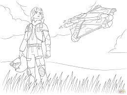 star wars rebel ezra bridger coloring page free printable