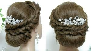 bridal wedding hairstyle for long hair wedding hairstyle for long hair tutorial bridal updo makeup videos
