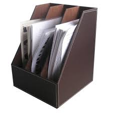 Leather Desk Organizers Kingfom Office Organizers File Holder Rectangle Tissue