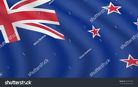 Nee Zealand Flag Waving Flag New Zealand Current National Stock Vector 787879258