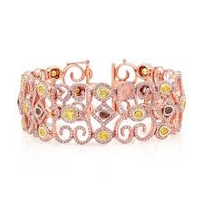 rose gold color bracelet images Rose gold mixed fancy color diamond accent pink diamond spiral jpg