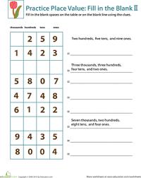 place value worksheets 3rd grade worksheets