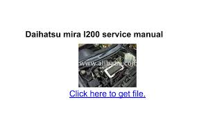 daihatsu mira l200 service manual google docs