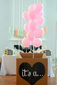 balloon in a box it s a gender reveal balloon box sign chalkboard