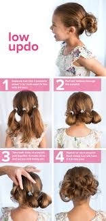 long hair style showing ears 5 fast easy cute hairstyles for girls low updo updo and kids s