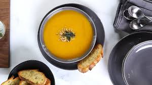 roasted butternut squash soup using the philips promix hand