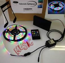 led light strip waterproof music battery powered 3528 rgb led strip light kit 20 key music ir