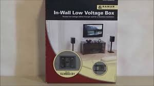 Cord Hider For Wall Mounted Tv In Wall Low Voltage Wire Hide Kit By Sanus Review Youtube