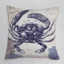 Purple Sofa Pillows by Aliexpress Com Buy Vezo Home Printed Dark Blue Sea Crab Sofa