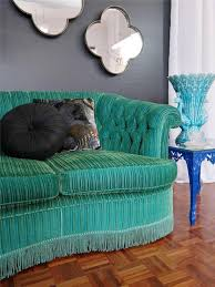 Emerald Green Velvet Sofa by Flamboyant Emerald Green Velvet Sofa Lounge Vintage Luxe Hollywood