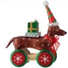 plaid reindeer dachshund christmas tree ornament dachshunds