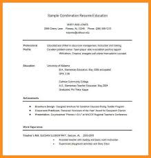 Sample Combination Resume Example by 6 Combination Resume Template Word Parts Of Resume