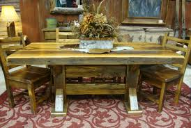 manhattan slab dining table rustic furniture mall by timber creek