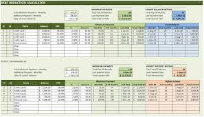 Loan Amortization Spreadsheet by Debt Reduction Calculator Excel Templates