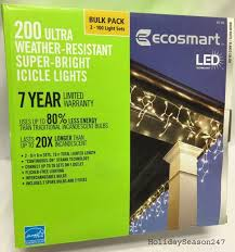 ecosmart 200 led icicle lights ecosmart 200 super bright ultra led warm white icicle lights 7 year