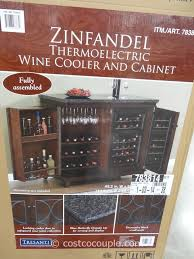 Wine Cabinet With Cooler by Twin Star Zinfandel Thermoelectric Wine Cooler And Cabinet