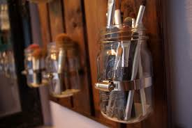 Mason Jar Bathroom Storage by Skinny Meg Ball Jar Storage