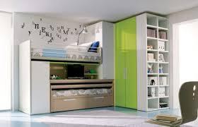 bedroom unisex kids bedroom green wall paint color loft bed