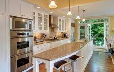 galley kitchens with island wide galley kitchen with patio doors search renovate