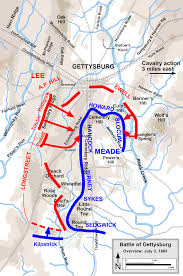 Gettysburg Map The Battle Of Gettysburg July 3 1863 Pickett U0027s Charge James