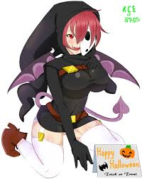 mascot halloween gif zoey the shygal by aceofbros on deviantart