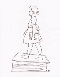 ruby bridges goes to by ruby bridges coloring page