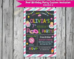personalised halloween party invitations girls pool party personalised birthday invitation printed