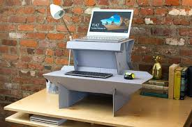 Diy Motorized Desk Hydraulic Standing Desk A Cardboard Desk Converter On Table With A