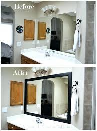 Frame Bathroom Mirror Kit Bathroom Mirror Trim Sillyroger